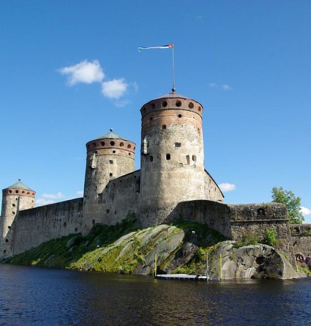 Castillo de Olavinlinna en Finlandia