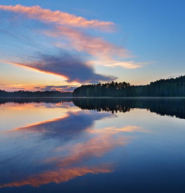 Atardece en Saimaa en Finlandia