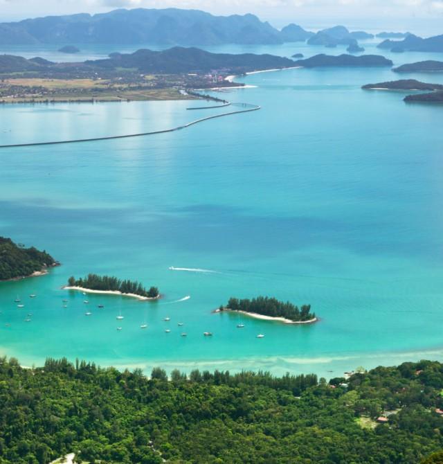 La isla desde el aire en Malasia