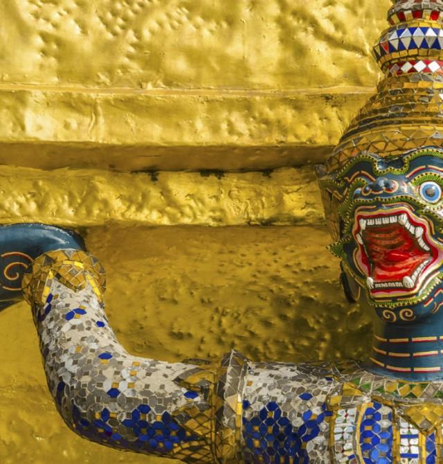 En el lugar de los sagrados en Tailandia