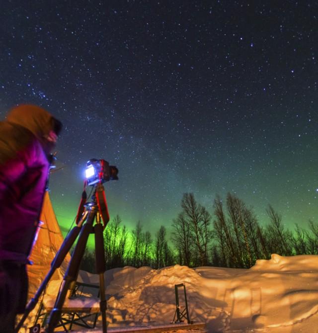 Aprende a fotografiar una aurora boreal en Noruega