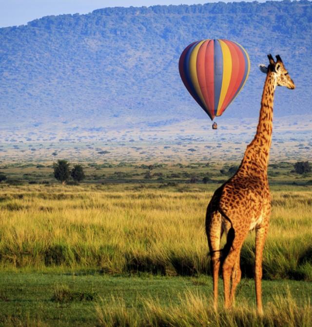 En globo por el Masai Mara en Kenia