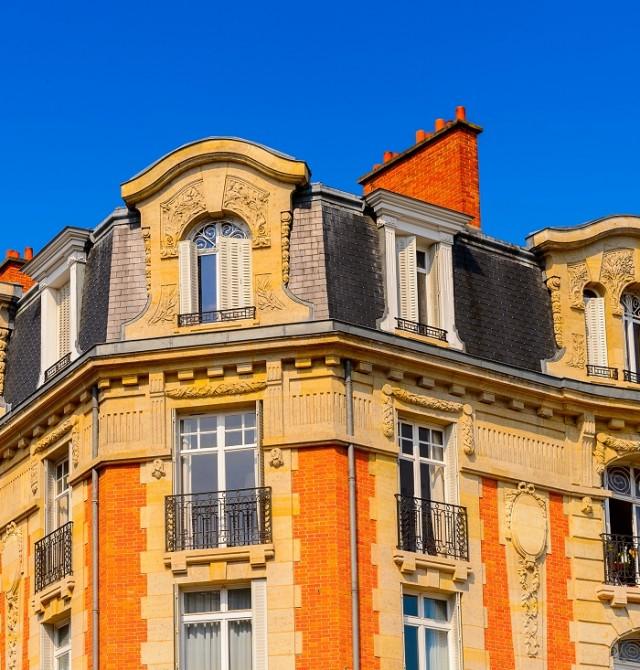Las fachadas Art Déco del centro de la ciudad   en Francia