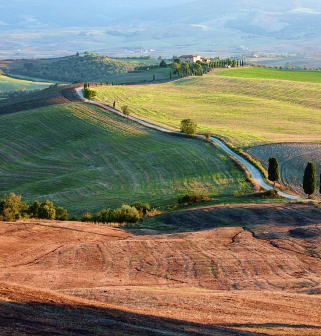 Paisaje de Toscana en Italia
