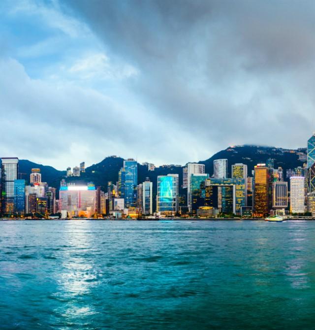 Hong Kong desde la Bahía Victoria en China