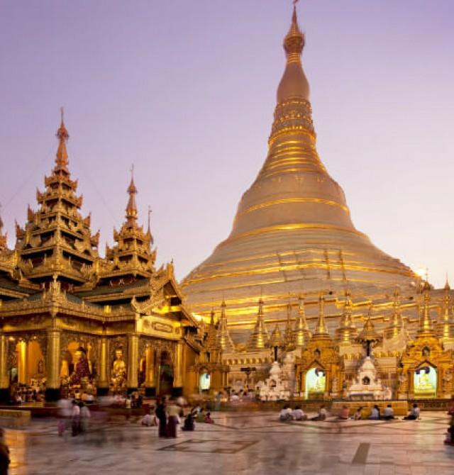 Pagoda Shwedagon en Myanmar - Tailandia