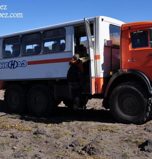 Klyuchevskaya volcanic group en Rusia, Kamchatka
