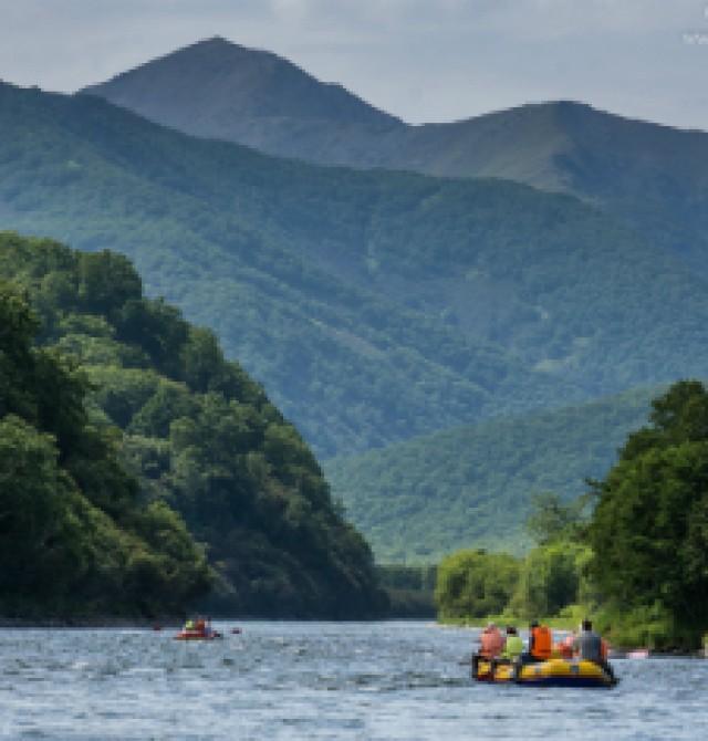 Rafting río Bystraya en Rusia, Kamchatka