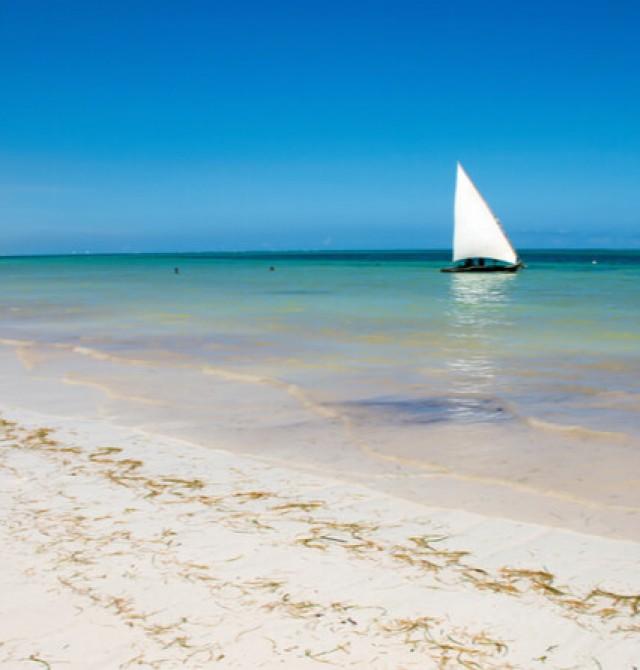 Playa Diani en Kenia