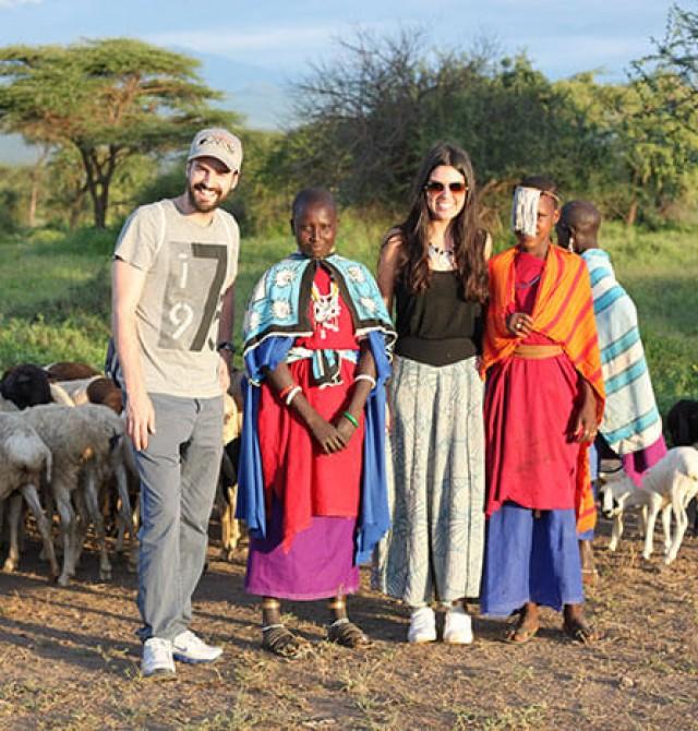 Poblado masai auténtico