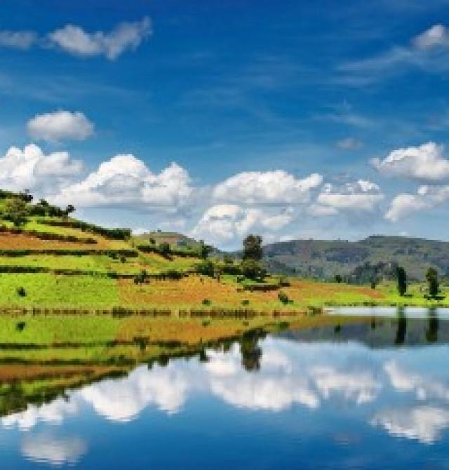 Lago Bunyoni en Uganda, Ruanda y Congo