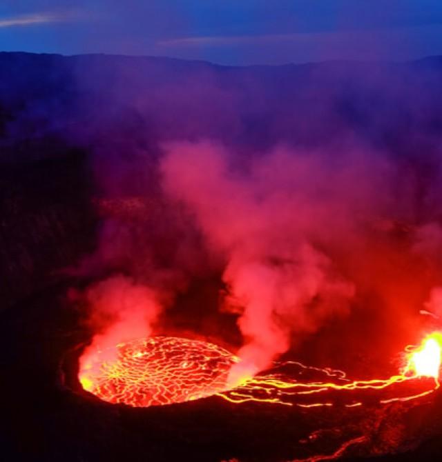 Volcán Nyiragongo en Uganda, Ruanda y Congo