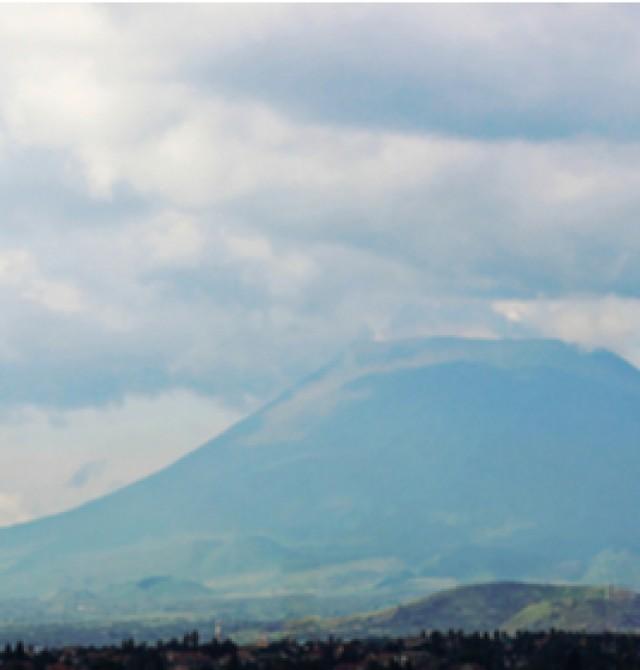 Volcán Nyiaragongo en Uganda, Ruanda y Congo