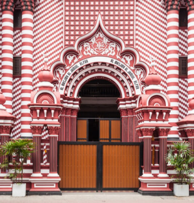 Barrio de Pettah en Sri Lanka