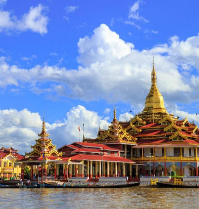 Cultura budista en la orilla del Lago Inle
