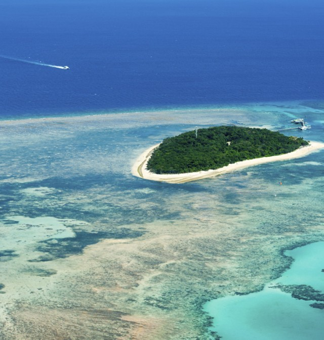 Una isla desierta sin hoteles ni alojamientos