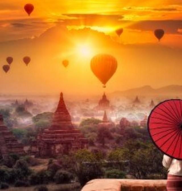 Bagan en Myanmar y Hong Kong