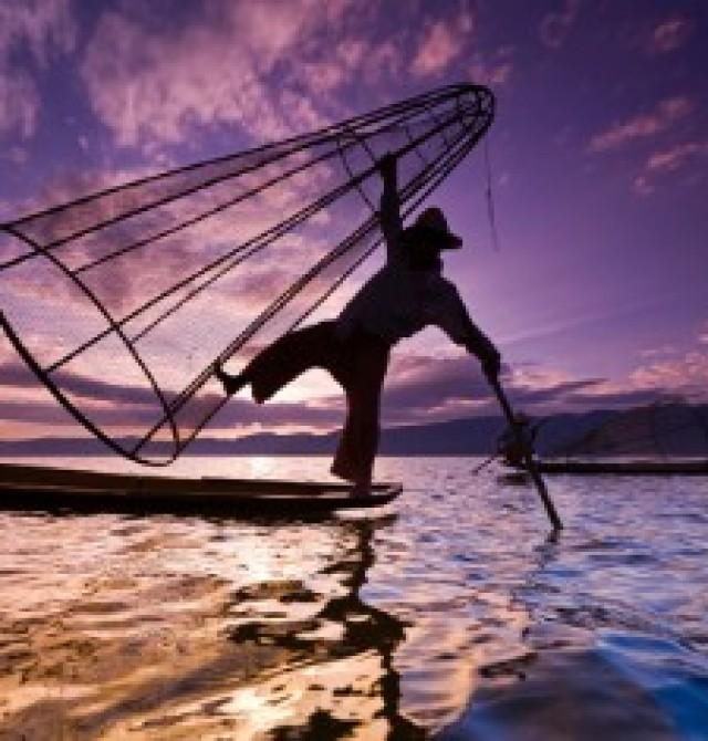 Lago Inle en Myanmar y Hong Kong