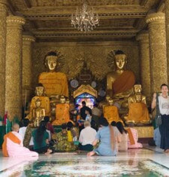 Yangón en Myanmar y Hong Kong