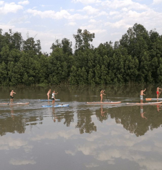 SUP en río Gambia