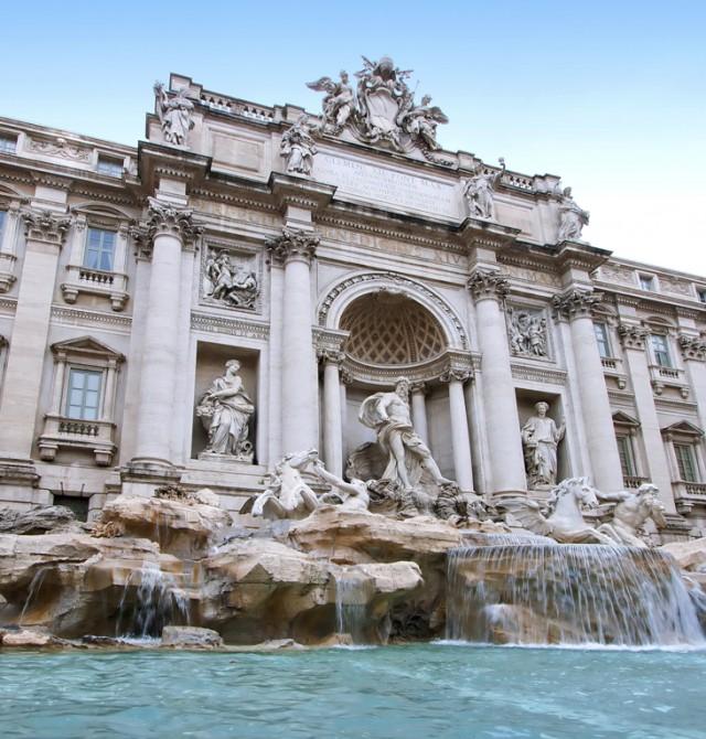 Fontana di Trevi en Italia