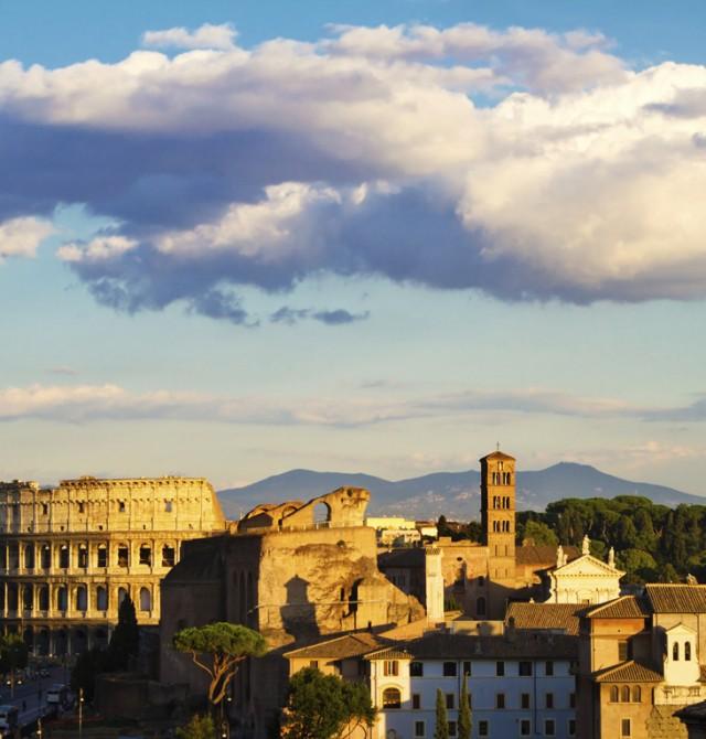 El Coliseo Romano en Italia