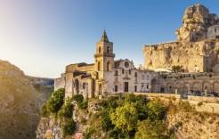 Antigua ciudad de Matera en Italia