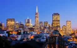 La noche en San Francisco en Estados Unidos