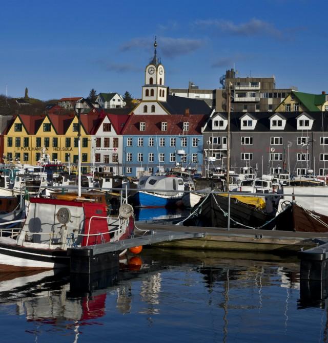 Torshavn marina en Islas Feroe