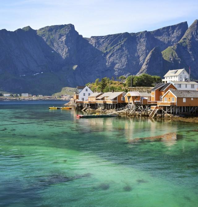 Rorbu en Noruega