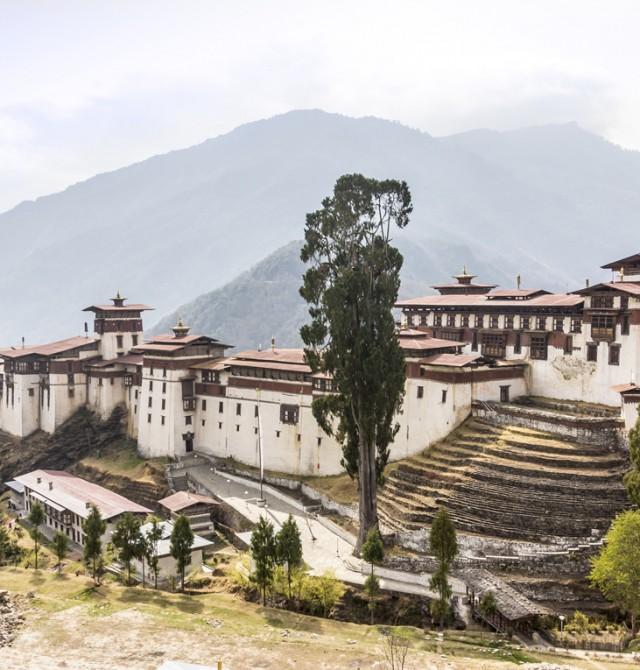 La fortaleza de Trongsa Dzong, antesala de la real