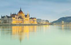 El Parlamento en Budapest en Hungría