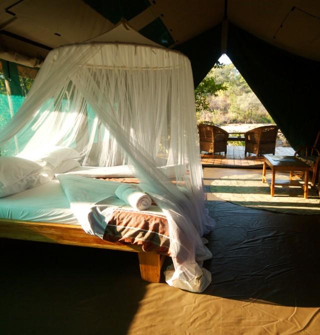 Bendita cama tras el safari en Malaui