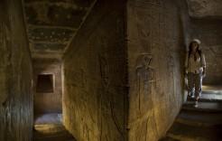 Dentro de la pirámide en Egipto