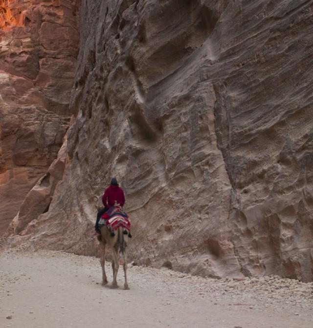 Garganta del Siq en Jordania
