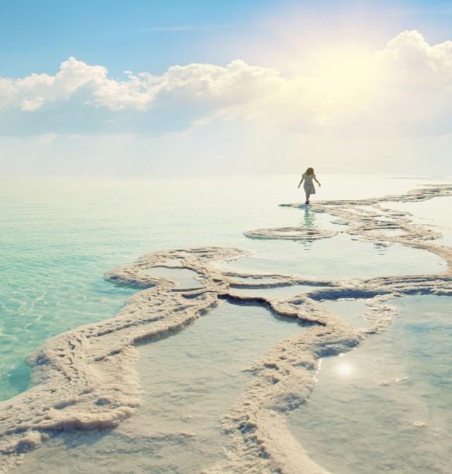 Costas del mar Muerto en Jordania