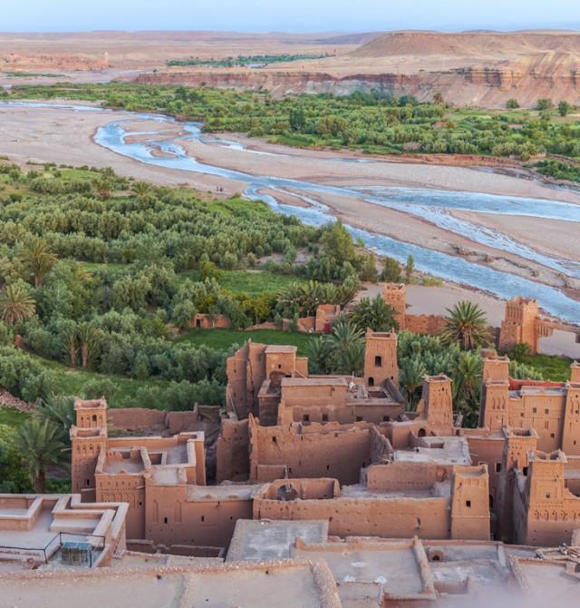 Ciudad de Ait Ben Haddou en Marruecos