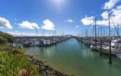 Marina de Auckland en Nueva Zelanda