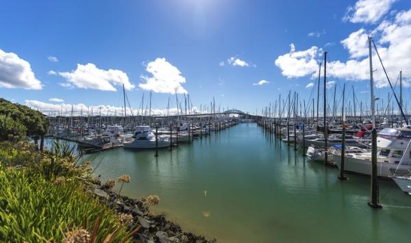 Marina de Auckland. Viaje a Nueva Zelanda con PANGEA The Travel Store
