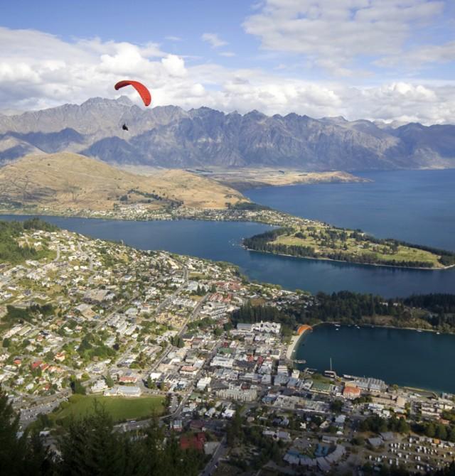 Paracaidismo en Queenstown en Nueva Zelanda