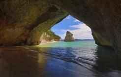 Cathedral Cove en Nueva Zelanda