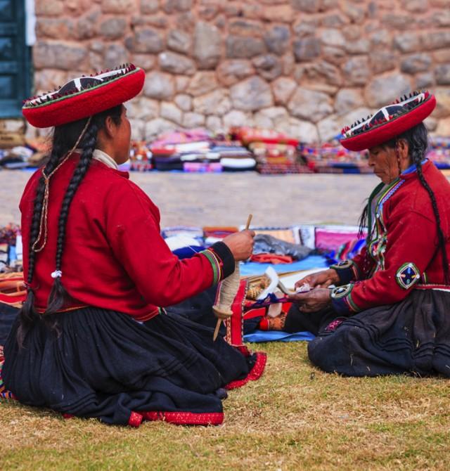 Mercado de Pisac en Perú