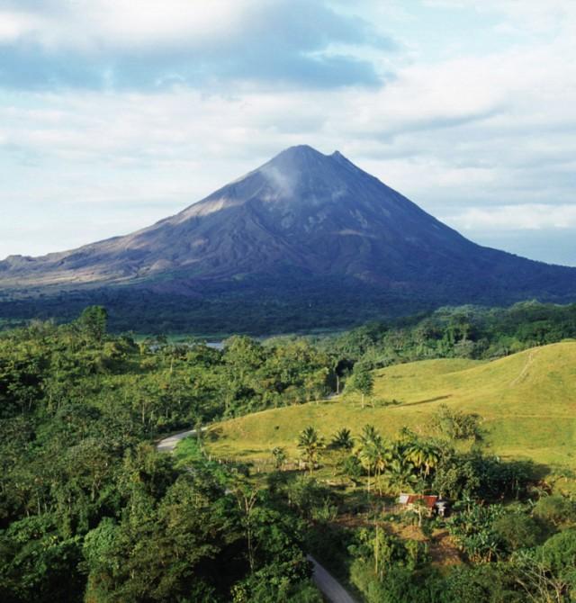El volcán Arenal en Costa Rica
