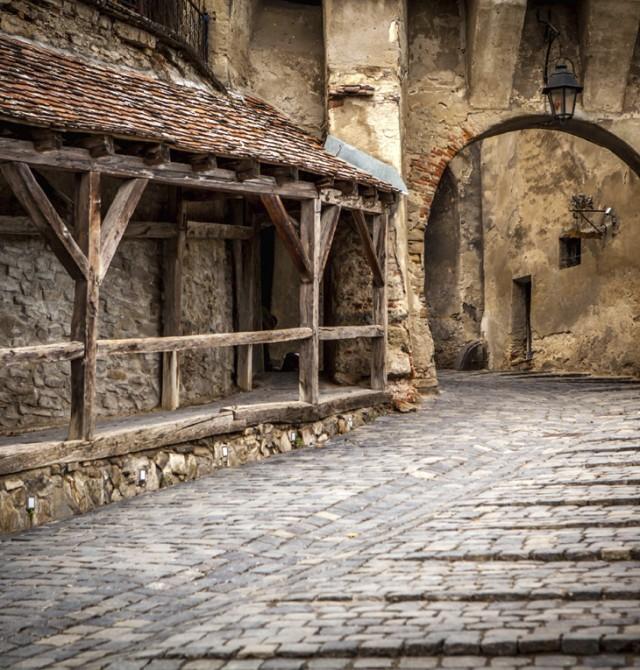 Medieval Sighisoara en Rumanía