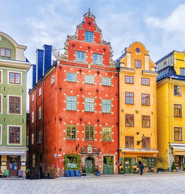 Los colores de Estocolmo en Suecia