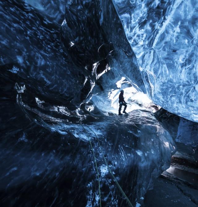 Túneles helados en Islandia