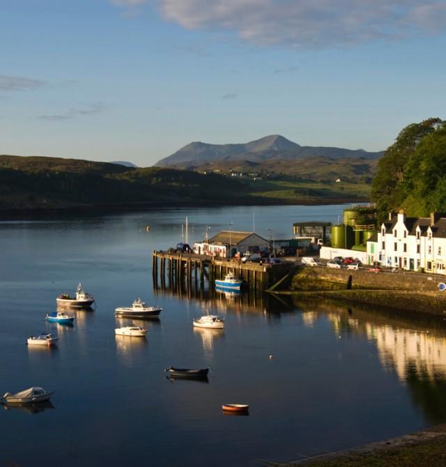 Isla de Skye Norte en Escocia
