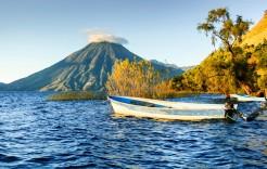 El volcán San Pedro en Guatemala y Honduras