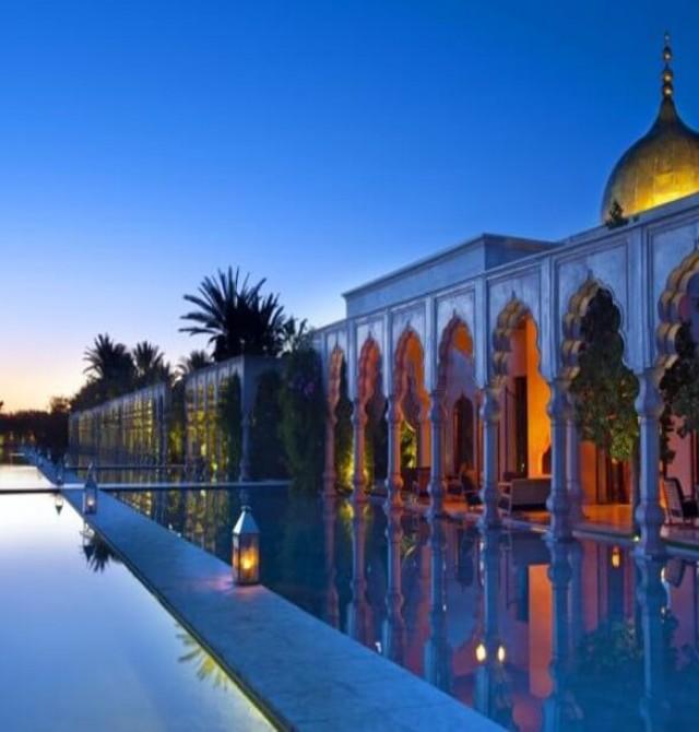 "En el  Palais Namaskar - ""The Gardens"" en Marruecos"
