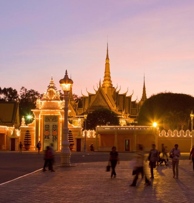Palacio Real en Phnom Penh en Camboya